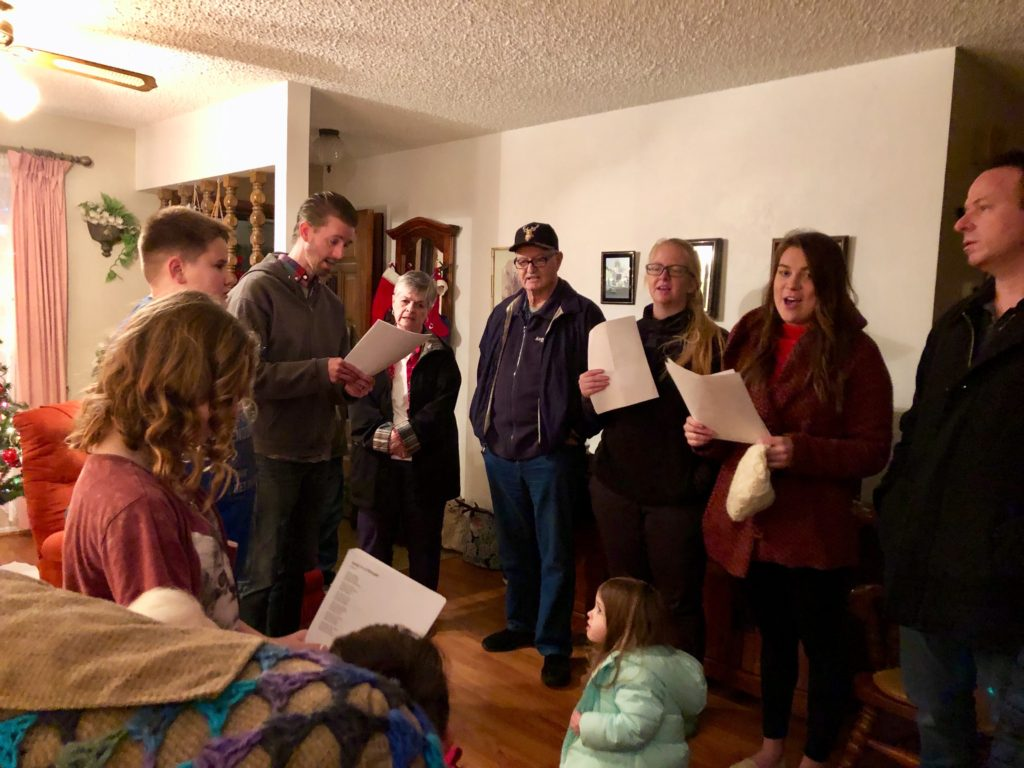caroling around the community